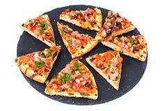 Prosciutto da pizza com cogumelos e presunto Foto de Stock Royalty Free