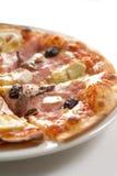 Prosciutto della pizza Fotografia Stock
