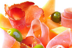 PROSCIUTTO DI PARMA HAM AND MELON Royalty Free Stock Photos