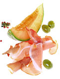 PROSCIUTTO DI PARMA HAM AND MELON Stock Photos