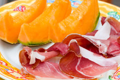 Prosciutto di Parma ham and Melon Stock Photography
