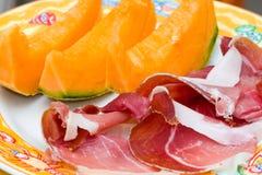 Prosciutto di Parma ham and Melon Stock Photography