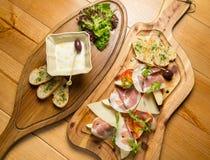 Prosciutto di Parma italiano, carne suina curata Fotografia Stock