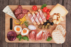 Prosciutto di Parma and other italian food Royalty Free Stock Photography