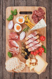 Prosciutto di Parma and other italian food Stock Images