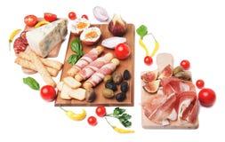 Prosciutto di Parma and other italian food Stock Photo
