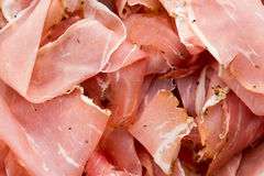 Prosciutto di Parma or Parma Ham. Window Light. Soft Focus.  royalty free stock photos