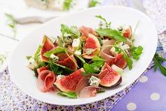 Prosciutto di Parma salad with figs Stock Photos