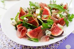 Prosciutto di Parma salad with figs Royalty Free Stock Photos