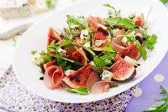 Prosciutto di Parma salad with figs Stock Image