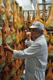 Prosciutto di San Daniele - cured ham production Stock Photo