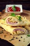 Prosciutto e formaggio Fotografia Stock