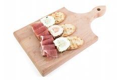 Prosciutto e formaggio delle spezie Immagine Stock Libera da Diritti
