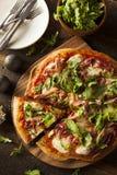 Prosciutto e pizza da rúcula Fotografia de Stock