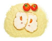 Prosciutto e pomodori Immagini Stock