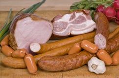Prosciutto - e - salsiccia Immagini Stock