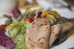 Prosciutto e verdure Fotografia Stock