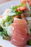 Prosciutto en Arugula-Salade Royalty-vrije Stock Foto's