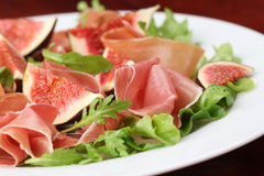 Prosciutto and fig salad Royalty Free Stock Photos