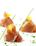 Prosciutto finger food Royalty Free Stock Photo