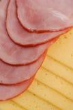 Prosciutto, formaggio e pane Fotografia Stock