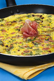 Prosciutto Frittata In A Pan Royalty Free Stock Image