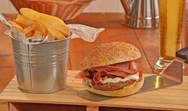 Prosciutto ham burger Royalty Free Stock Photo