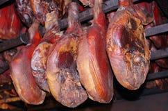 Prosciutto hams Stock Images