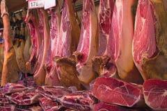 Prosciutto hams Stock Photo