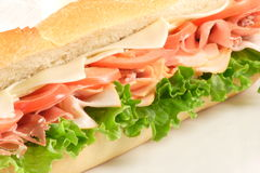 Prosciutto Healthy Sub. Italian flavored prosciutto sandwich made with prime organic ingredients Royalty Free Stock Photography