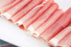 Prosciutto Italian Parma cured ham Royalty Free Stock Photos
