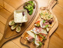 Prosciutto italiano, carne de carne de porco curada foto de stock