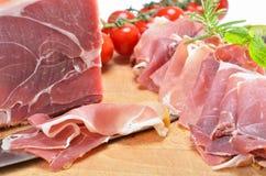 Prosciutto italiano squisito Fotografia Stock