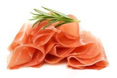 Prosciutto, jambon corrigé italien Images stock