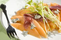 Prosciutto and Melon Stock Image