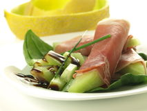 Prosciutto and melon appetizer Royalty Free Stock Photography