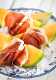 Prosciutto with melon Royalty Free Stock Photo