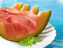Prosciutto and melon Royalty Free Stock Images