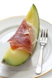 Prosciutto and melon Royalty Free Stock Photos