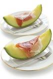 Prosciutto and melon Stock Image