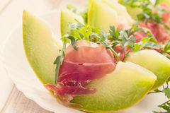 Prosciutto and melon Royalty Free Stock Photo
