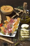 Prosciutto appetizer stock images