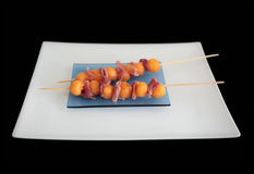 Prosciutto & Melon Skewers Royalty Free Stock Images