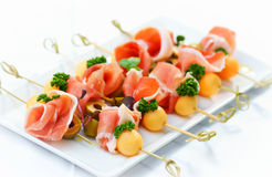 Prosciutto and melon Stock Photo