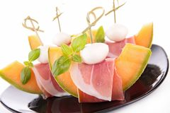 Prosciutto with melon Royalty Free Stock Photography