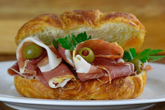Prosciutto and olives Royalty Free Stock Images