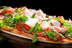 Prosciutto pizza. Royalty Free Stock Image