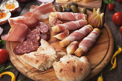 Prosciutto plate Royalty Free Stock Photos