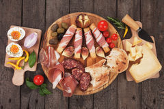 Prosciutto plate Royalty Free Stock Photography