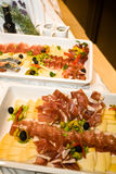 Prosciutto platter Royalty Free Stock Photography